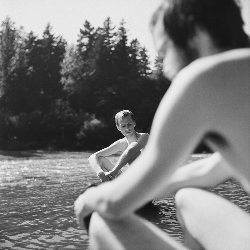 Portland Film Photographer - Chris and Mark on Sandy River - Rolleiflex