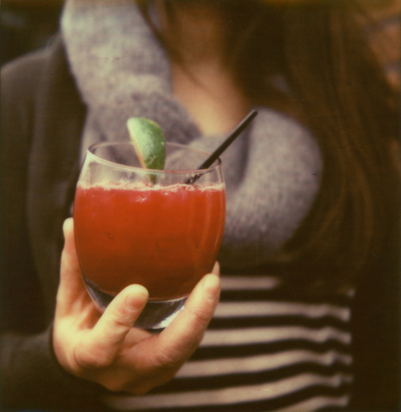 Portland Film Photographer - Polaroid SX70 - Aquavit cocktail from Broder
