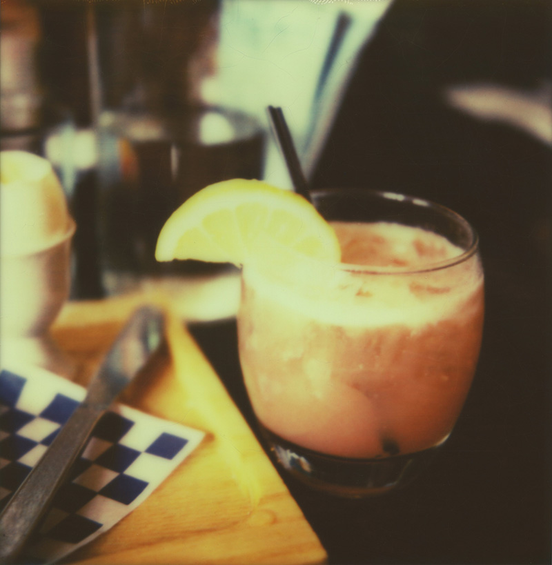 Portland Film Photographer - Polaroid SX70 - Breakfast and an Aquavit cocktail from Broder