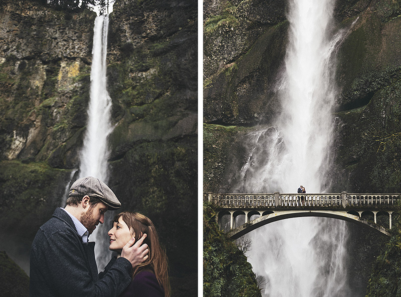 Portland Engagement Photographer - Karen & Josh at Multnomah Falls