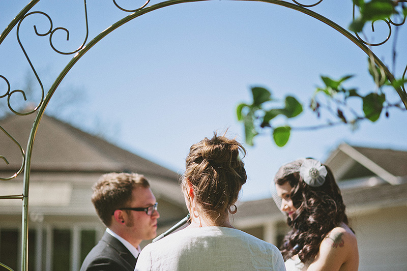 Arcata Wedding Photographer - Ceremony at the Humboldt Unitarian Universalist Fellowship