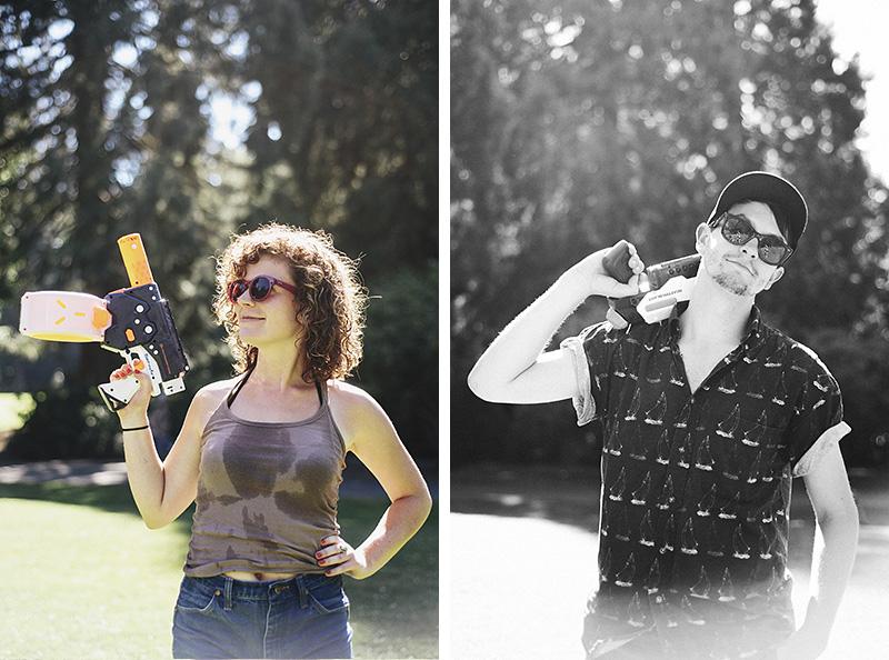 Portland Event Photographer - Water Gun Fight in Laurelhurst Park