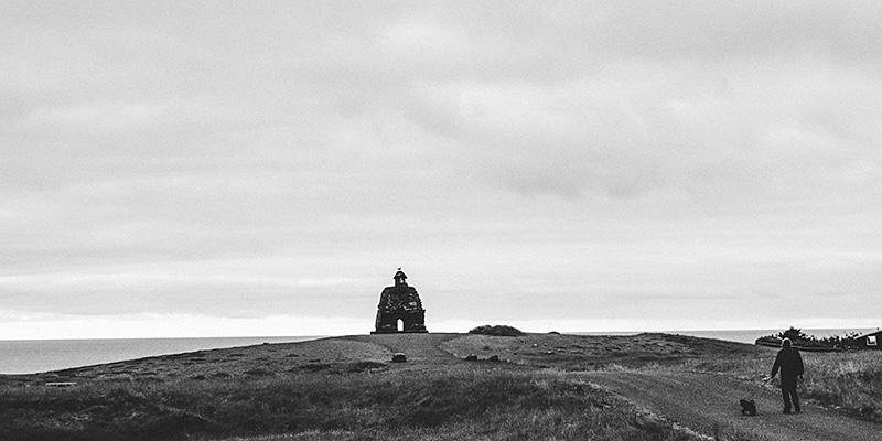 Iceland Wedding Photographer - Sculpture of Bárður in Arnarstapi