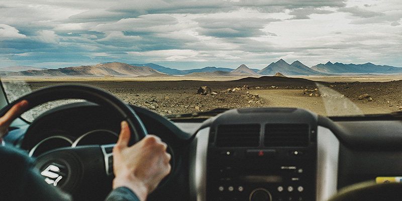 Iceland Wedding Photographer - Driving in the Highlands, toward Möðrudalur