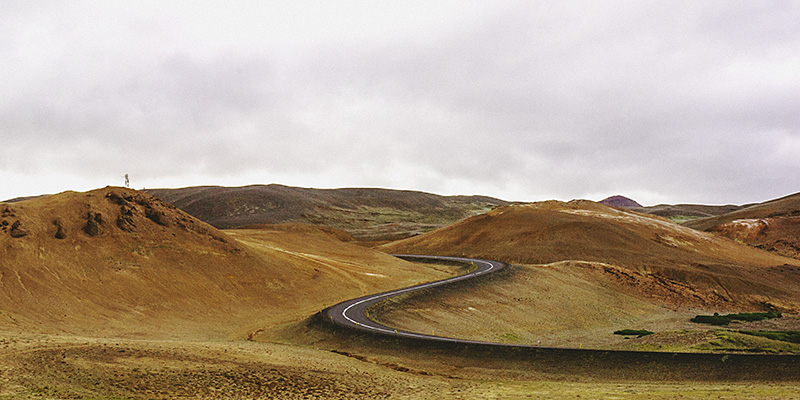 Iceland Wedding Photographer - Route 1, also known as the Ring Road, near Hverir