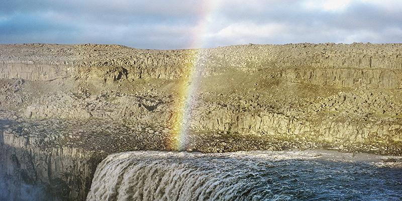 Iceland Wedding Photographer - Rainbow over Dettifoss