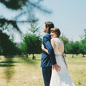Hannah and David's First Look at Kirchem Farm - Portland Wedding Photographer