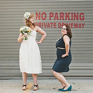 Amy and Amanda on their way to Foreign Cinema - San Francisco Wedding Photographer