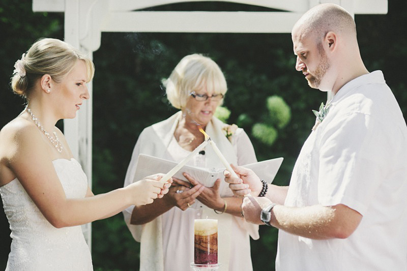 Sacramento Wedding Photographer - Candle lighting ceremony at the Vizcaya