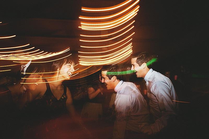 San Bernadino Wedding Photographer - Guests dancing at the Camp Seely reception
