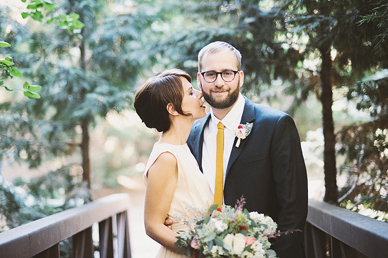 San Bernadino Wedding Photographer - Bride and Groom's first look at Camp Seely