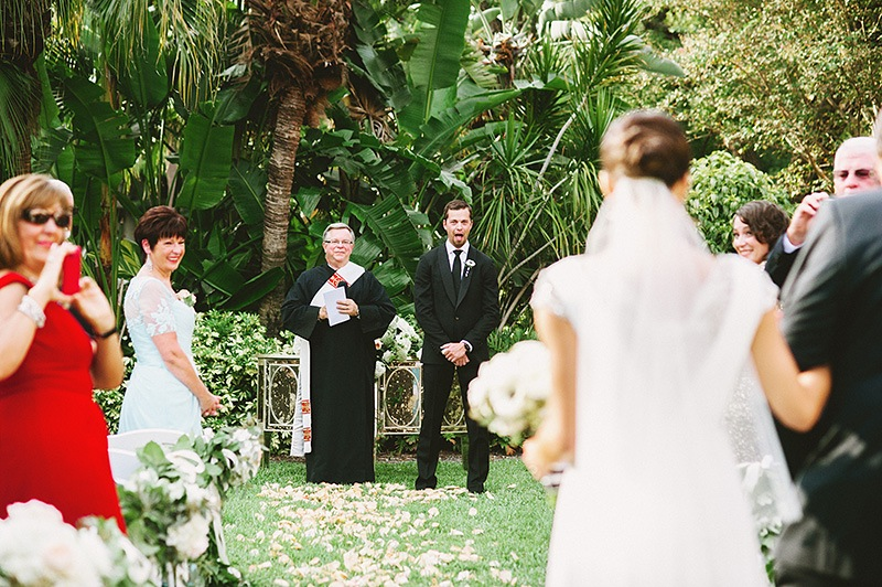 St. Petersburg Wedding Photographer - Groom's first look at the Bride - Vinoy Renaissance Hotel