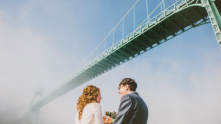 Cathedral Park Elopement in Portland, OR