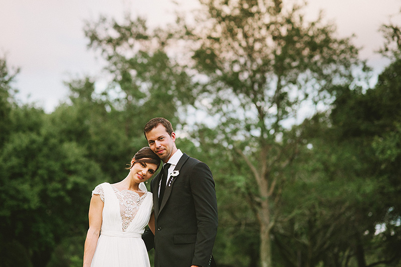 St Petersburg Wedding Photographer - Portrait of bride and groom in North Straub Park
