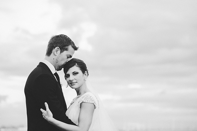 St Petersburg Wedding Photographer - Portrait of Bride and Groom at the Marina