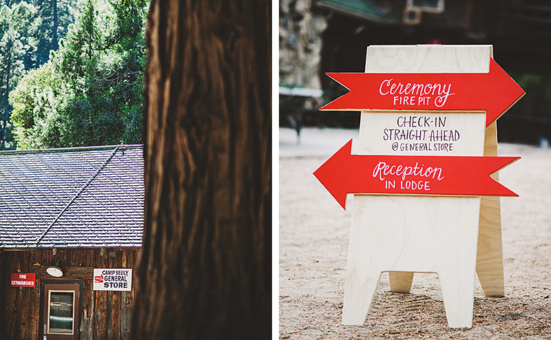 Handpainted Signs | Kate & Will's Camp Seely Wedding | Kim Smith-Miller