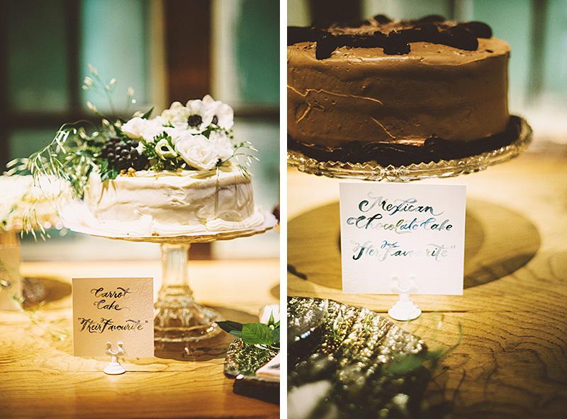 Wedding cakes on display - Sodo Park Wedding Photographer