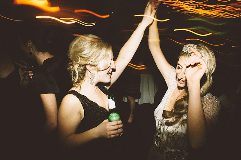 Dance floor action shots at the wedding reception. Sodo Park Wedding Photographer