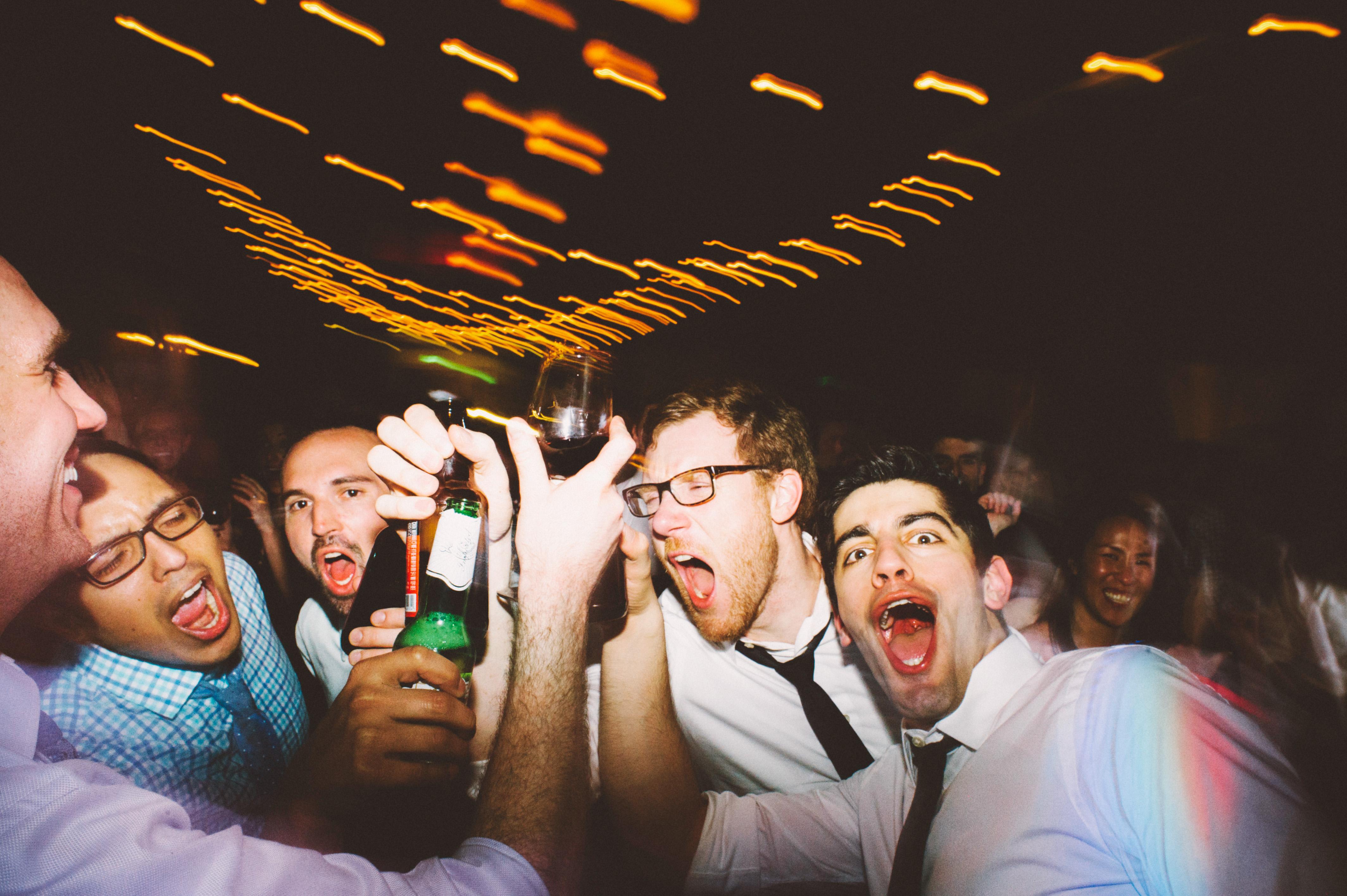 Dance floor action shots at the wedding reception - Sodo Park Wedding Photographer