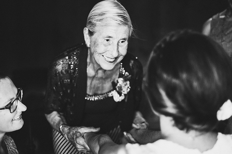 Grandmother blessing the bride during prayer - Historic Kirchem Farm Wedding Photographer - Oregon City
