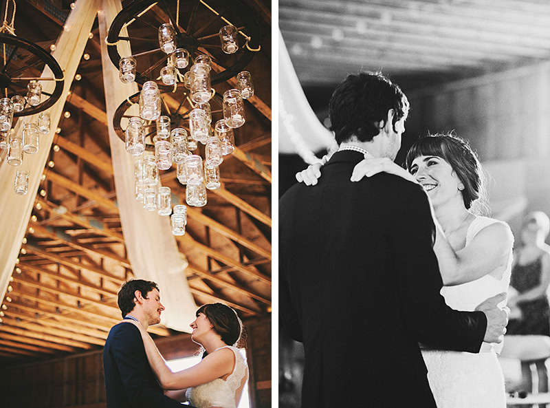 First Dance in the barn - Historic Kirchem Farm Wedding Photographer - Oregon City