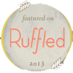 Featured on Ruffled 2013