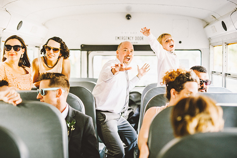 Party Bus on the way to the Secret Society Wedding