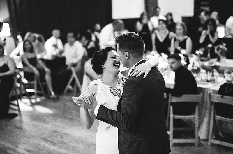 Bride and Groom's first dance at their Secret Society Wedding