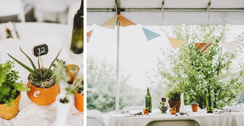 Table Settings at a Pendarvis Farm Wedding