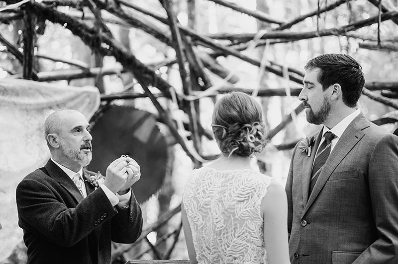 Wood Stage Ceremony - Pendarvis Farm Wedding