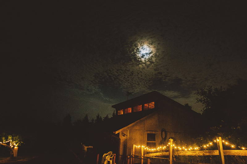 The Lucky Barn at night