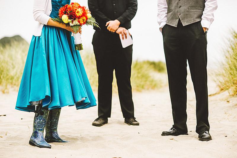 Camp Westwind wedding ceremony