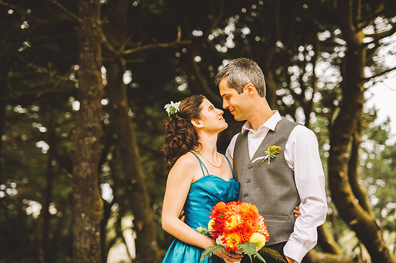 Portrait of Bride and Groom - Camp Westwind wedding