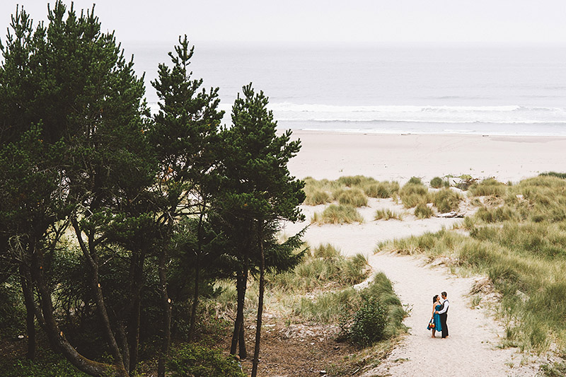 Landscape with Bride and Groom just outside their Camp Westwind wedding