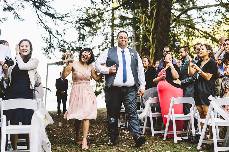 Wedding party recessional |  Nature Bridge Wedding