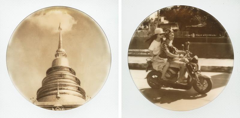 Round frame polaroids from Chiang Mai, Thailand | SLR680 Polaroid