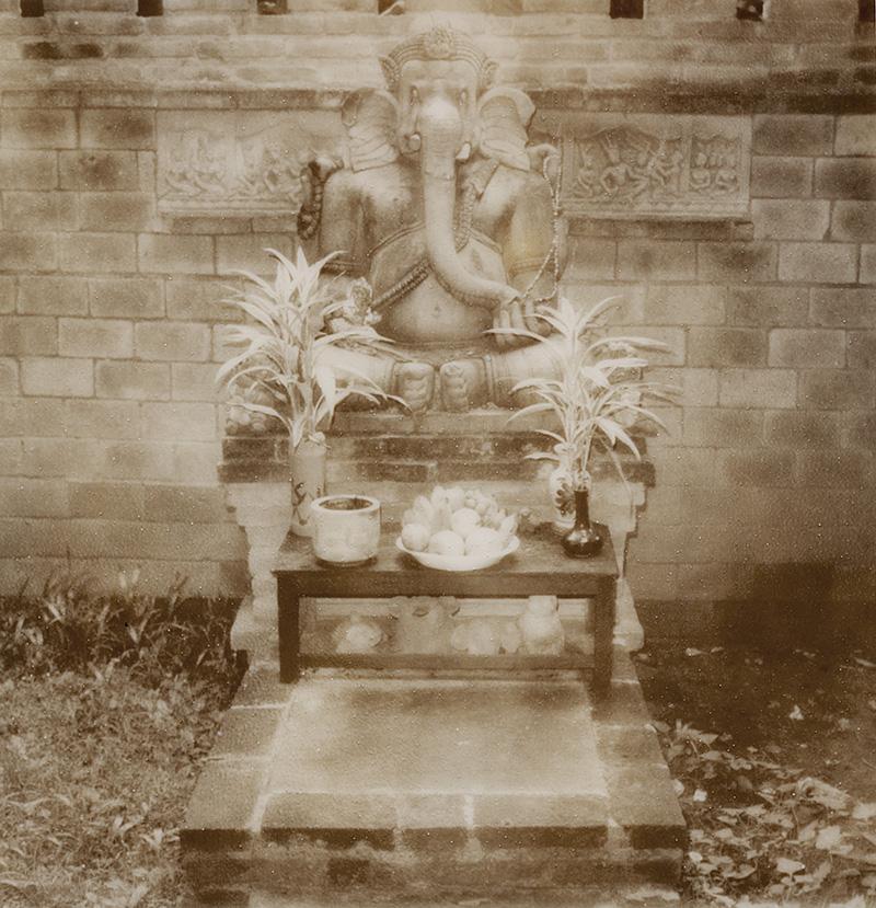 Ganesh statue at the Chiang Mai White House | SLR680 Polaroid