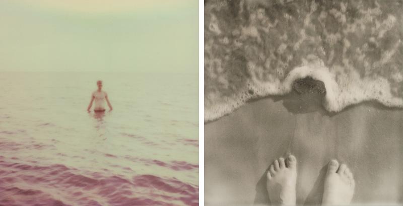 Swimming in the Gulf of Thailand on Koh Mak   SLR680 Polaroid
