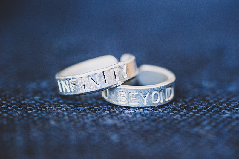 St Johns Bridge Wedding - Infinity and Beyond Rings