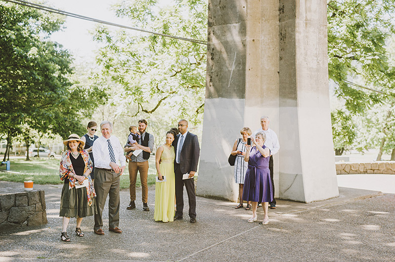 St. Johns Bridge Wedding Ceremony
