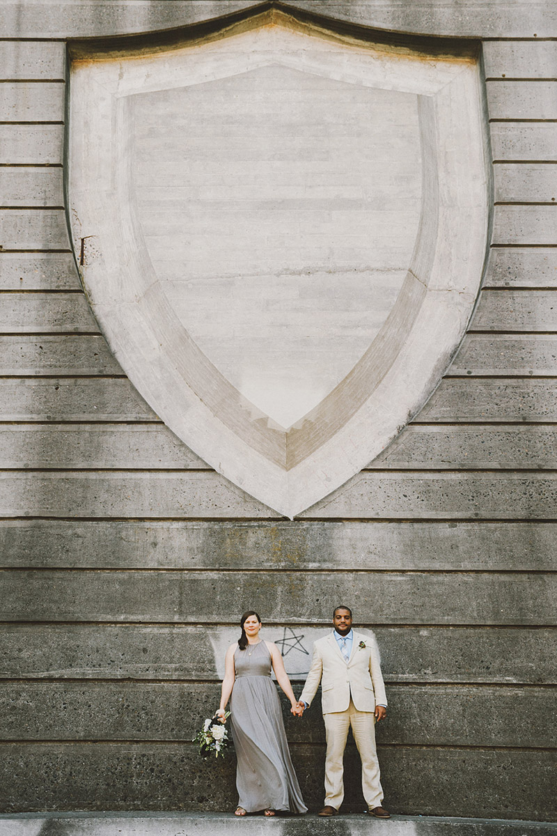 St Johns Bridge Wedding - Portrait of Bride and Groom