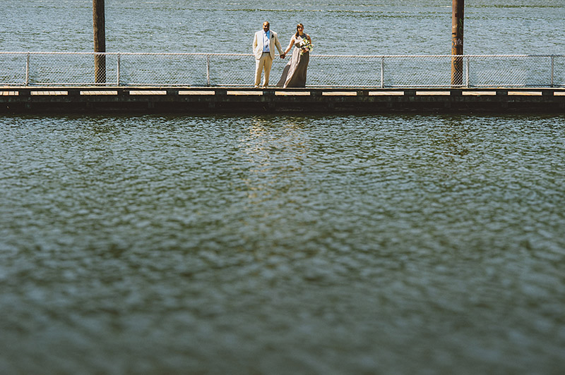 St Johns Bridge Wedding - Portraits on the Docks