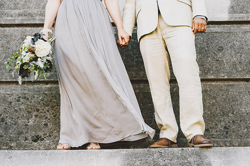 St Johns Bridge Wedding - Bride and Groom Portraits