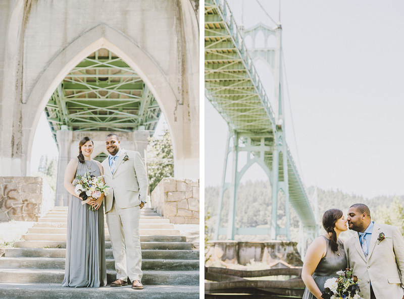 St Johns Bridge Wedding - Portraits in Cathedral Park