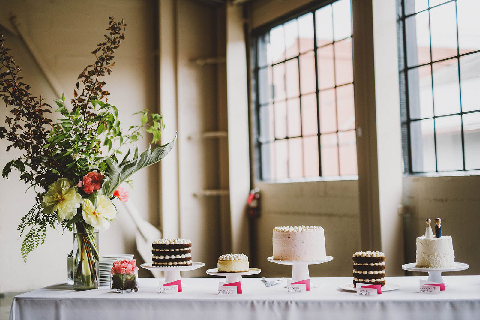 Table full of wedding cake  | Castaway Portland Wedding