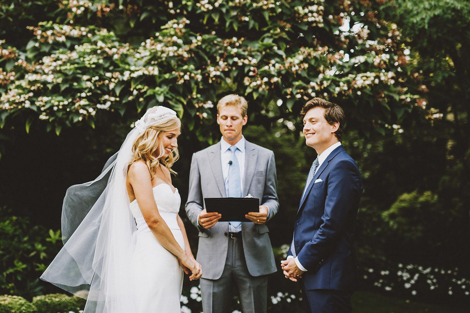 Ceremony on the lawn | Portland Town Club Wedding