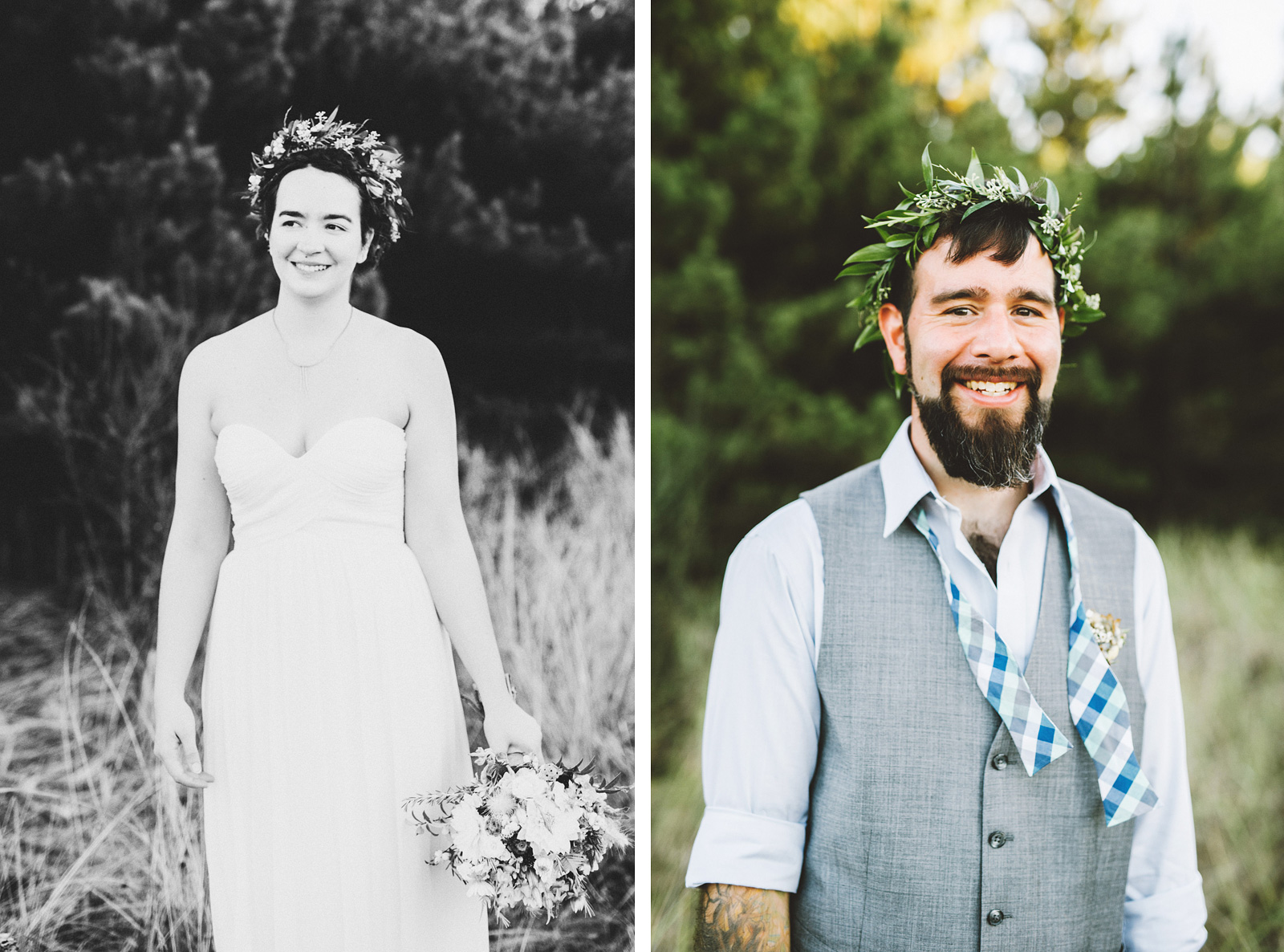 Portraits of the Bride and Groom | SouWester Lodge Wedding