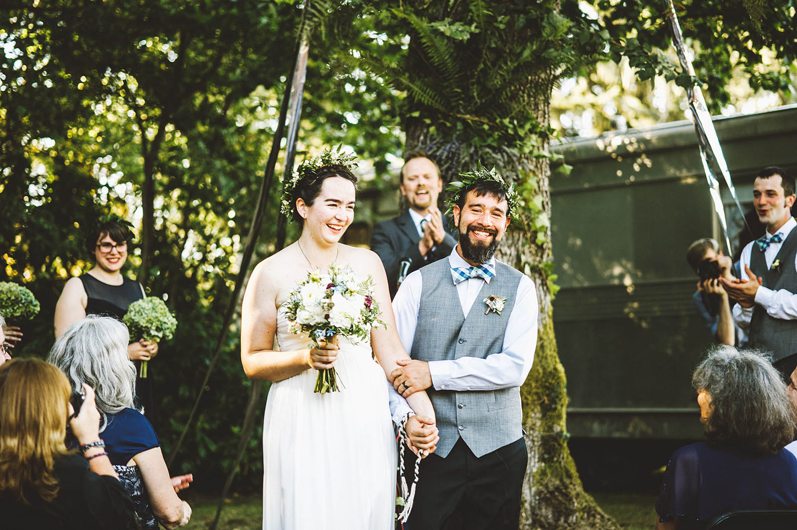 Ceremony grand exit | SouWester Lodge Wedding