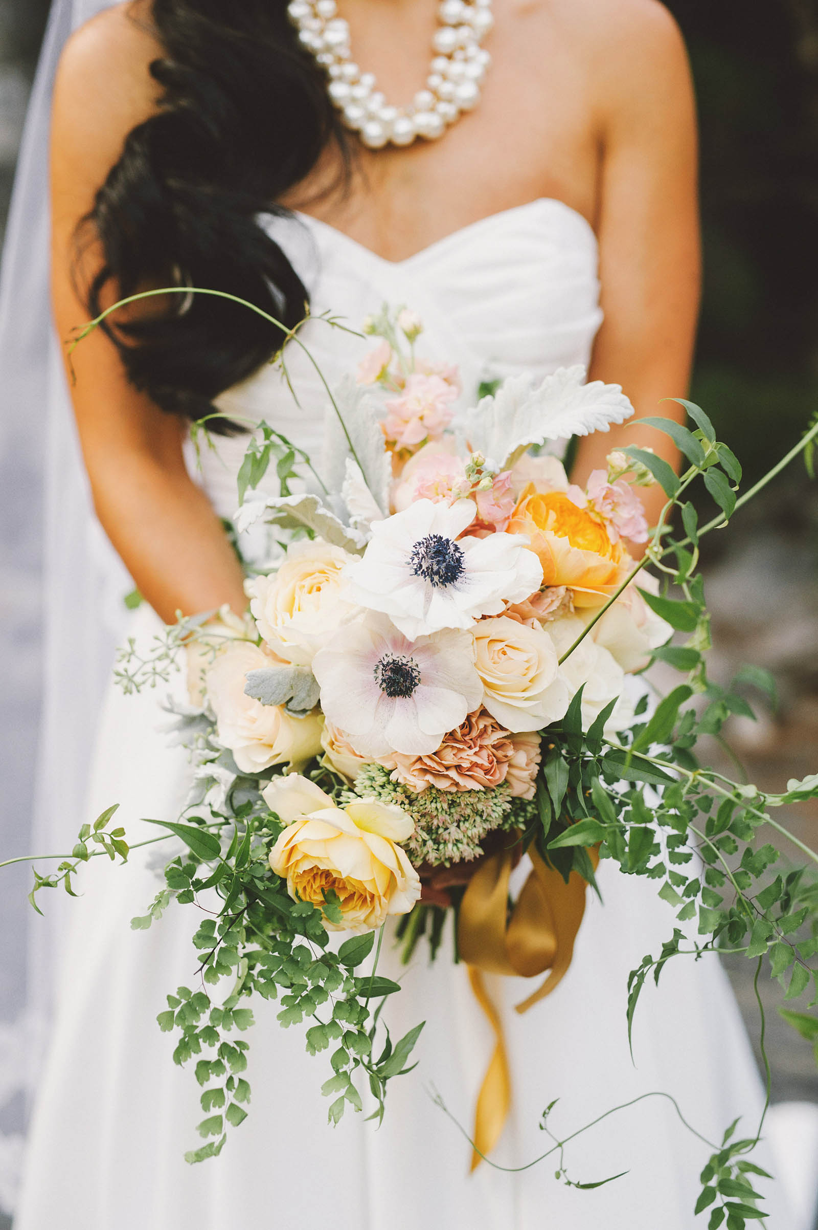 Bridal bouquet by Form and Flora | Lan Su Chinese Garden Wedding