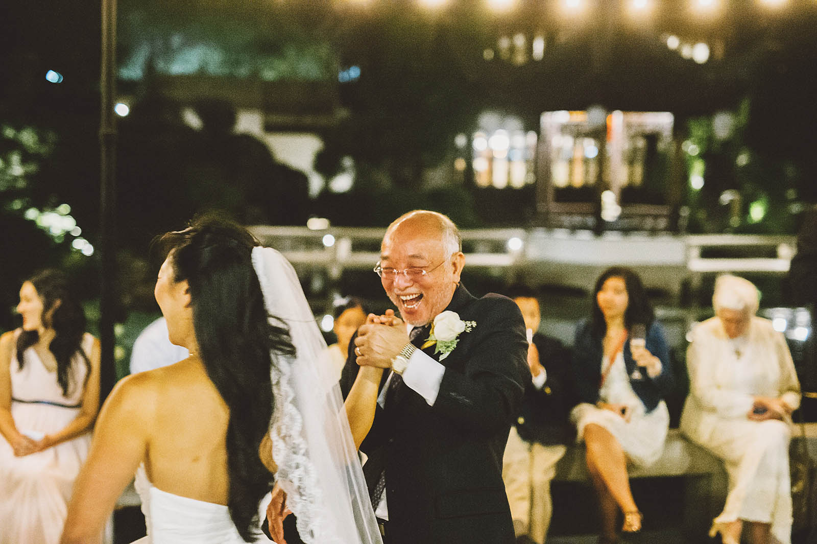 Father/Daughter Dance on the patio | Lan Su Chinese Garden Wedding